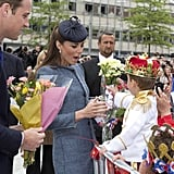 When She Gladly Accepted Flowers From This Little King