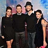 Jensen and Danneel had a cute double date with Jared and Genevieve at the CW's celebration of Supernatural's 200th episode in LA in November 2014.