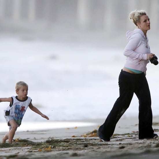 Britney Spears on Beach With Family Pictures