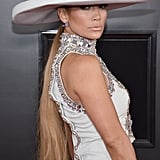 Jennifer Lopez's Ponytail at the 2019 Grammys