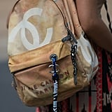 What's Fashion Week without a Chanel graffiti backpack spotting?