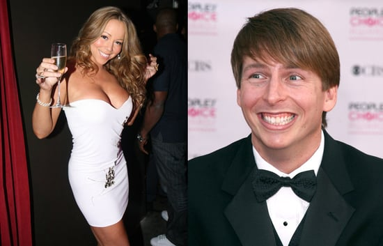 Jack McBrayer Touches Mariah Carey's Body