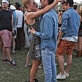 Kate Bosworth gazed into husband Michael Polish's eyes.