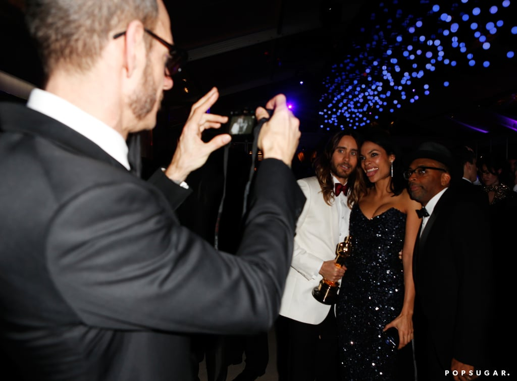 Terry Richardson snapped a photo of Jared Leto, Rosario Dawson, and Spike Lee.