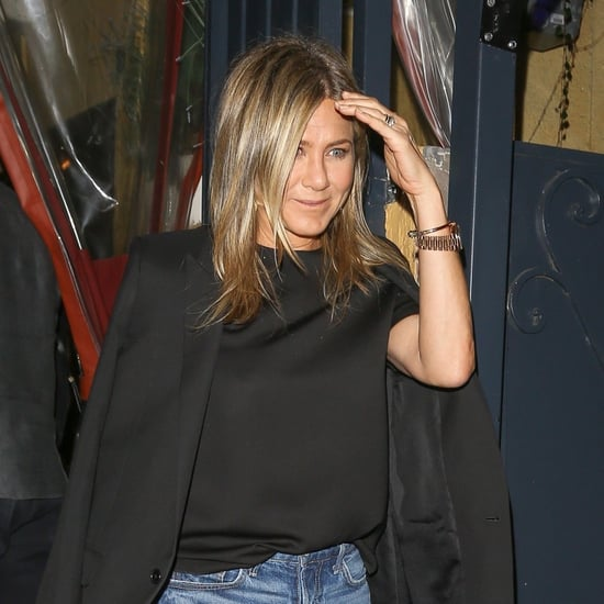 Jennifer Aniston's Black Tuxedo Blazer