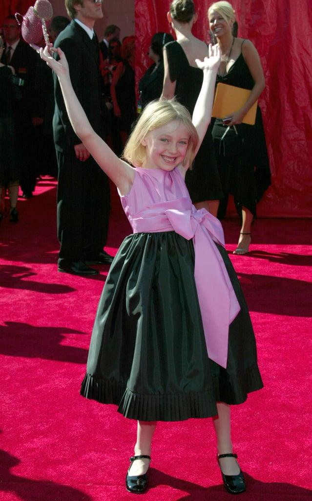 Dakota Fanning was full of energy for her walk down the red carpet in 2003.