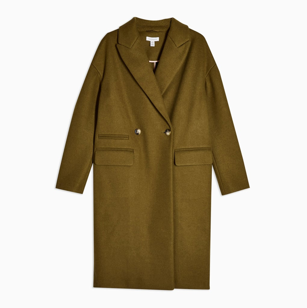 Topshop Double Button Longline Coat