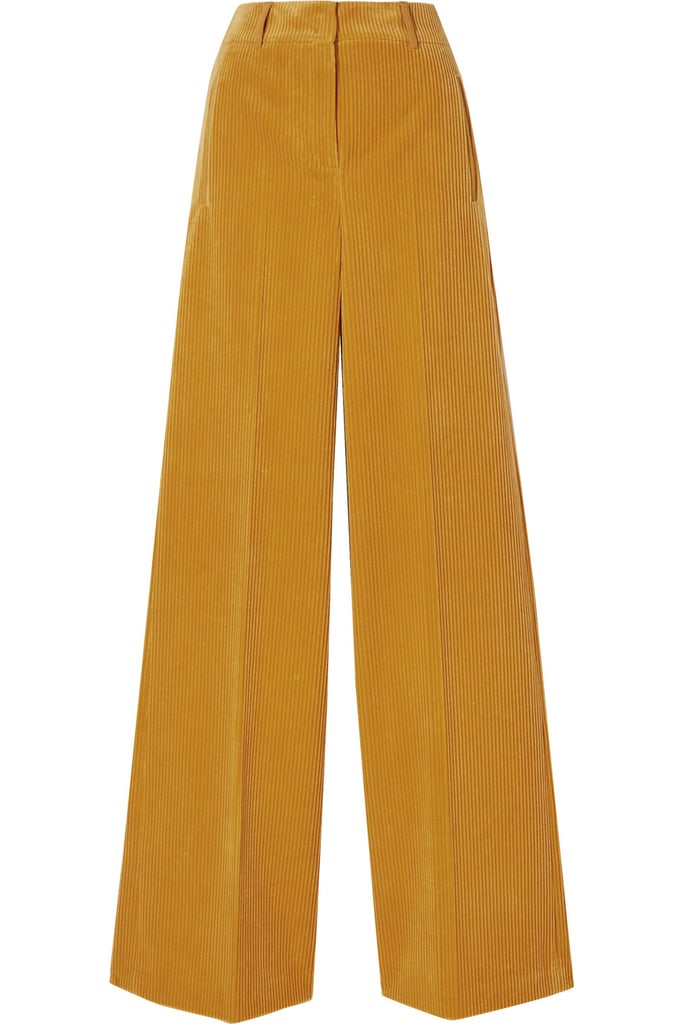 Akris Flore cotton and cashmere-blend corduroy wide-leg pants