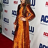 Selena Gomez at the ACLU Annual Bill of Rights Dinner in LA in November 2019