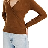Madewell Faux-Wrap Pullover Sweater