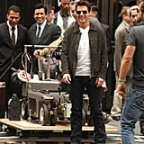 Tom Cruise got into character on set.