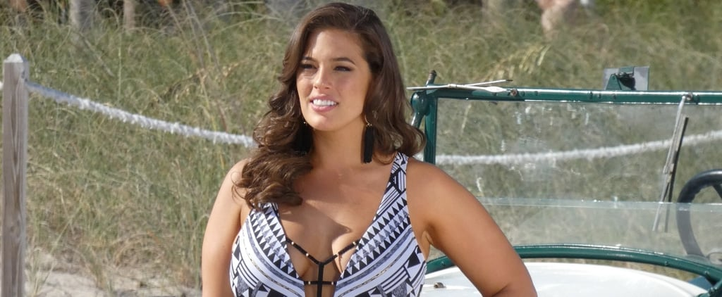 Ashley Graham's 1-Piece Swimsuit Is a Psychedelic Treat For the Eyes