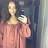 What does 17th century underwear look like? Ashley Madekwe found out. Source: Instagram user ashleybell