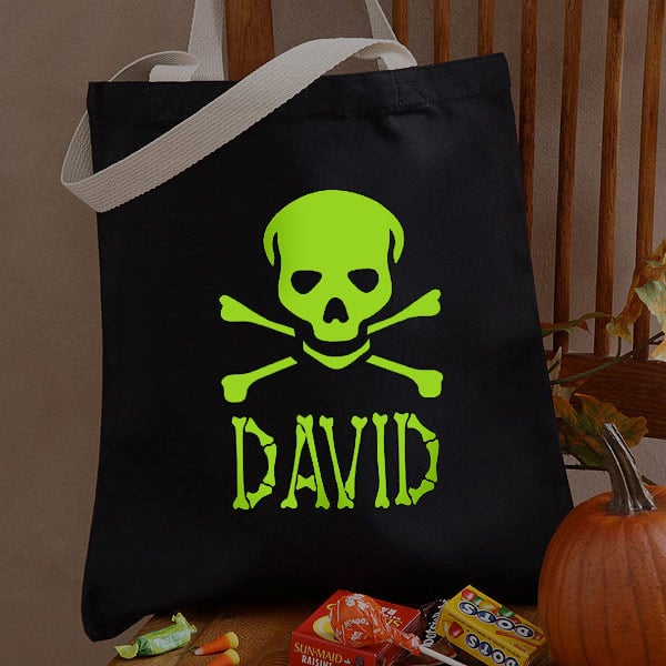 Skull and Crossbones Glow-in-the-Dark Tote