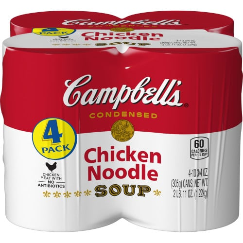 Campbell's Condensed Chicken Noodle Soup, 4 Pack