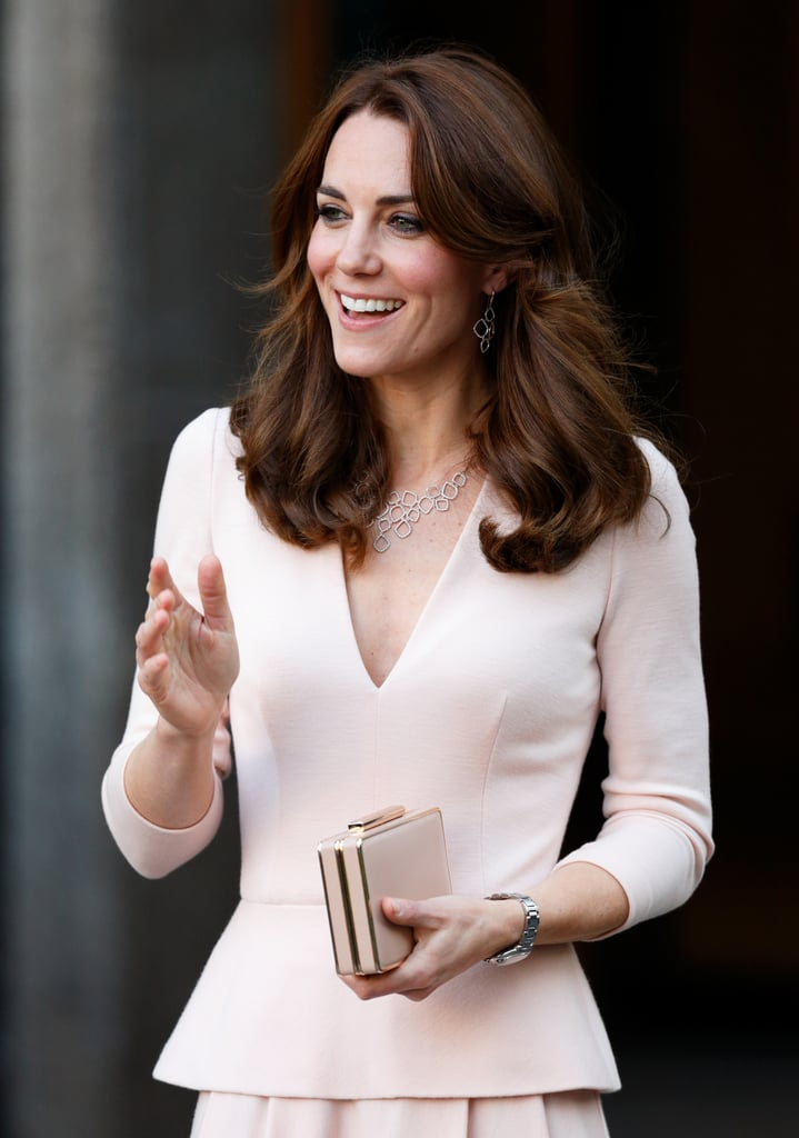 With the endless speculation about Kate's picture-perfect hairstyle, her jewels, and the thickness of her eyebrows, it's sometimes easy to forget one of the really important things: she also has a fabulous collection of handbags! Whether it's the tiniest of box clutches at a black tie event or a roomy tote big enough for an assortment of essentials, the duchess truly has a bag for every occasion. Here we take a peek at every tote she has carried since she became an HRH. Now if only we knew what she kept inside them . . .