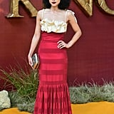 Pictured: Nathalie Emmanuel at The Lion King premiere in London.