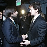 Jason Schwartzman and Mark Wahlberg chatted backstage.