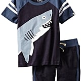 He'll have a blast in Hatley Boys' two-piece shark play set ($40) — a comfy, easy Summer ensemble.