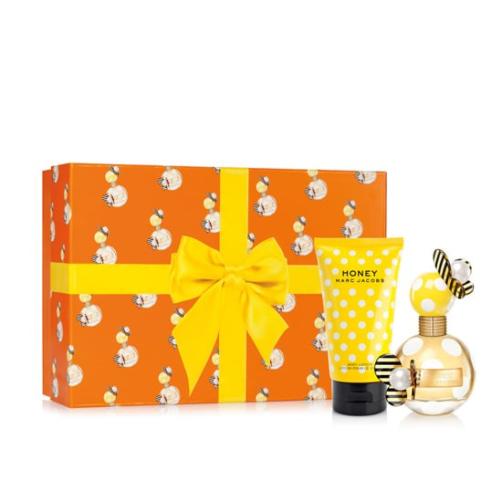If you're gifting Marc Jacobs Honey Holiday Gift Set ($94) to someone who doesn't love surprises, they'll appreciate it. The box is dotted with pictures of the perfume bottle.