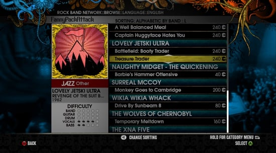 Rock Band Network Turns Any Song Into a Rock Band Song