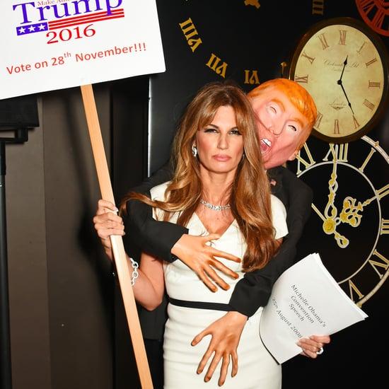 Jemima Khan's Melania Trump Groping Halloween Costume
