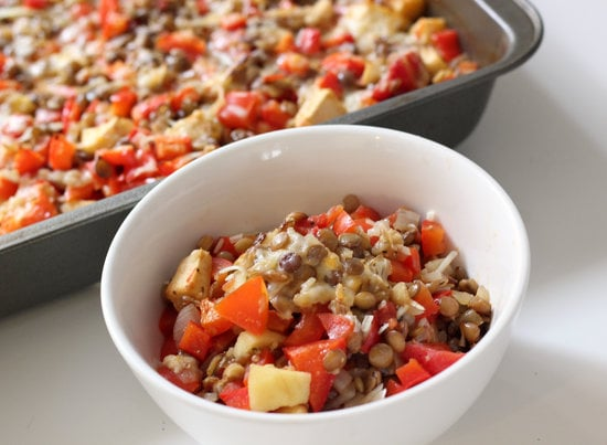 Lentil and Red Pepper Bake