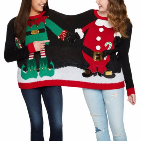 two person ugly christmas sweater - Cute Ugly Christmas Sweater