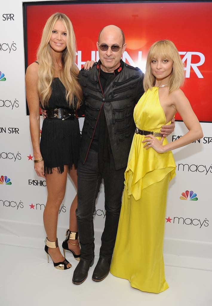 """Nicole Richie and her Fashion Star colleagues, Elle Macpherson and John Varvatos, got together in NYC last night to celebrate their debut episode. Nicole was decked out in a bright yellow Julien Macdonald gown. John and Nicole's fellow judge, Jessica Simpson, had to skip out on the party because she's nearing the end of her first pregnancy out in LA. The first installment already had a controversial moment, when Jessica said she wanted to """"slap"""" a rude male contestant who made a sexist remark. Nicole had Jessica's back on Twitter, writing, """"Damn Jessica Simpson just threw it down! Don't mess with Texas! Or a southern woman!"""" The event took place at Macy's Herald Square, and many of the show's contestants came out as well. Jessica has taken care of press for the program out on the West Coast, visiting both The Tonight Show and The Ellen DeGeneres Show to chat up working with Nicole and more. Nicole went to Watch What Happens Live earlier this week and spoke about how fun it was to work alongside Jessica. Nicole said Jessica is """"a dream to work with."""""""