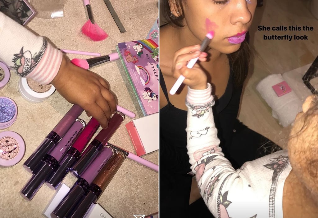 North West Adorably Nails Her First Session as an Aspiring Makeup Artist