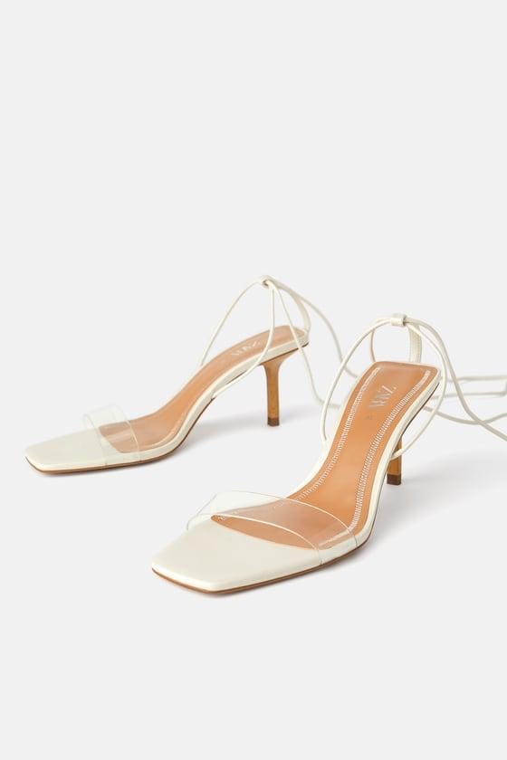 Wood and Vinyl Heeled Sandals