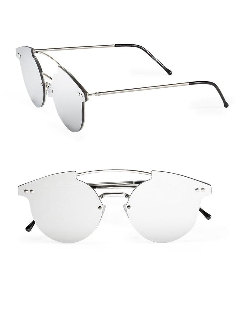f1491653e6c Spitfire 53mm Round Mirrored Sunglasses ( 45)