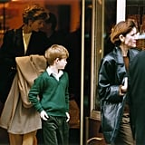 When William and Harry were young boys Diana would take them to McDonalds, or high street stores like Marks and Spencer and WH Smith — and while there are never any high street sightings of William reported, there are many of Harry, who in recent years has been spotted in TK Maxx, M&S, and Waitrose.