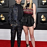 Sophie Turner's Louis Vuitton Minidress at the Grammys 2020
