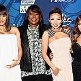The ladies of The Real — Tamera Mowry-Housley, Loni Love, Jeannie Mai, and Adrienne Bailon — gathered at the Essence Black Women in Music party.