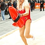 Matt Lauer dressed up as Pamela Anderson from Baywatch in 2013.