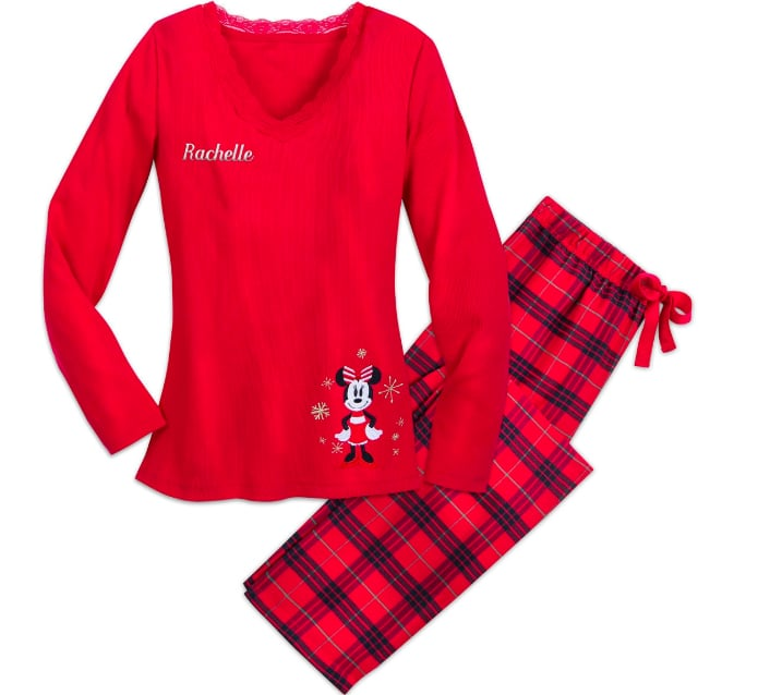 Minnie Mouse Holiday Plaid PJ Set for Adults