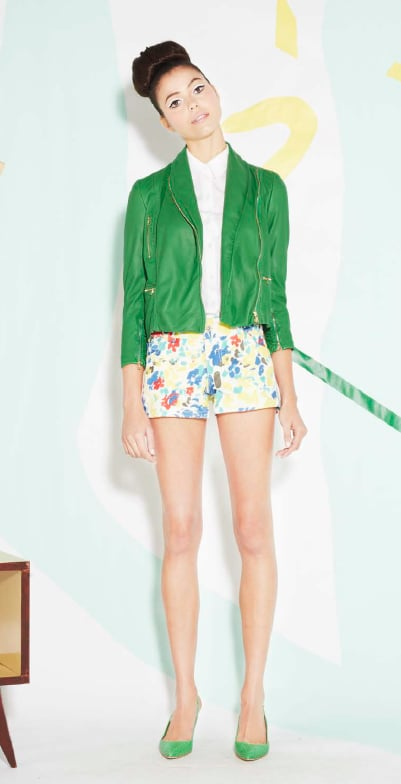 This makes us want to ditch our black leather jackets for a green one for Spring.