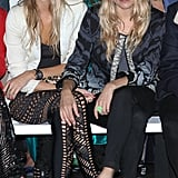 Sienna Miller and Cara Delevingne at Matthew Williamson's Fashion Week show.