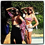 Ashley Tisdale and Vanessa Hudgens celebrated Memorial Day together at a backyard BBQ. Source: Instagram user ashleytis