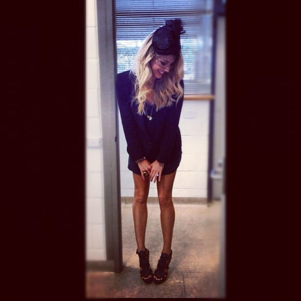 Jennifer Hawkins was thrilled with her new pair of heels. Source: Instagram user jenhawkins_