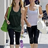 Even high-profile trainers like Jillian Michaels get out to take classes from time to time! Jillian was spotted earlier this week leaving a yoga class with girlfriend Heidi Rhoades. Coincidentally, Heidi is a yoga instructor.