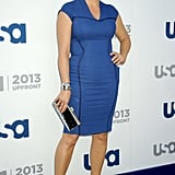 Tiffani Thiessen hit the carpet at the upfronts.