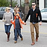 Reese Witherspoon and Jim Toth took Ava and Deacon out to breakfast in LA.