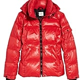 S13/Nyc 'Kylie' Metallic Quilted Jacket With Removable Hood