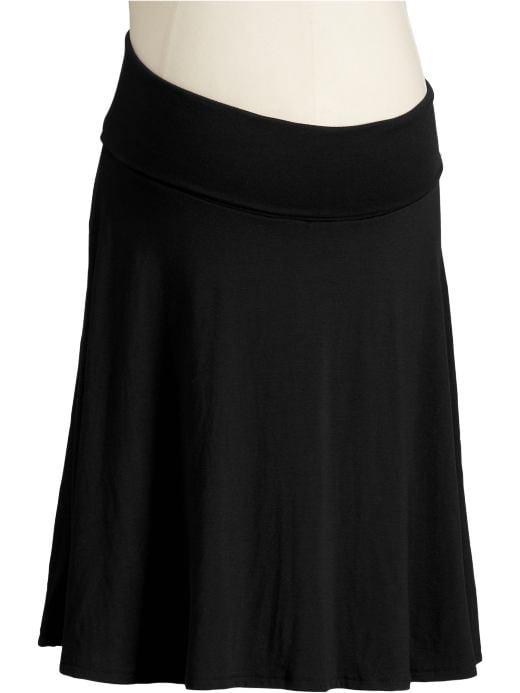 Fold-Over Jersey Skirt