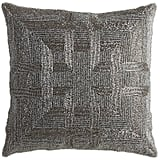 Pier 1 Imports Romantic Glam Beaded Greek Key Pillow - Gray ($35)