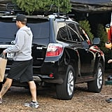 Ryan and Deacon Phillippe picked up a Christmas tree at a lot in LA.