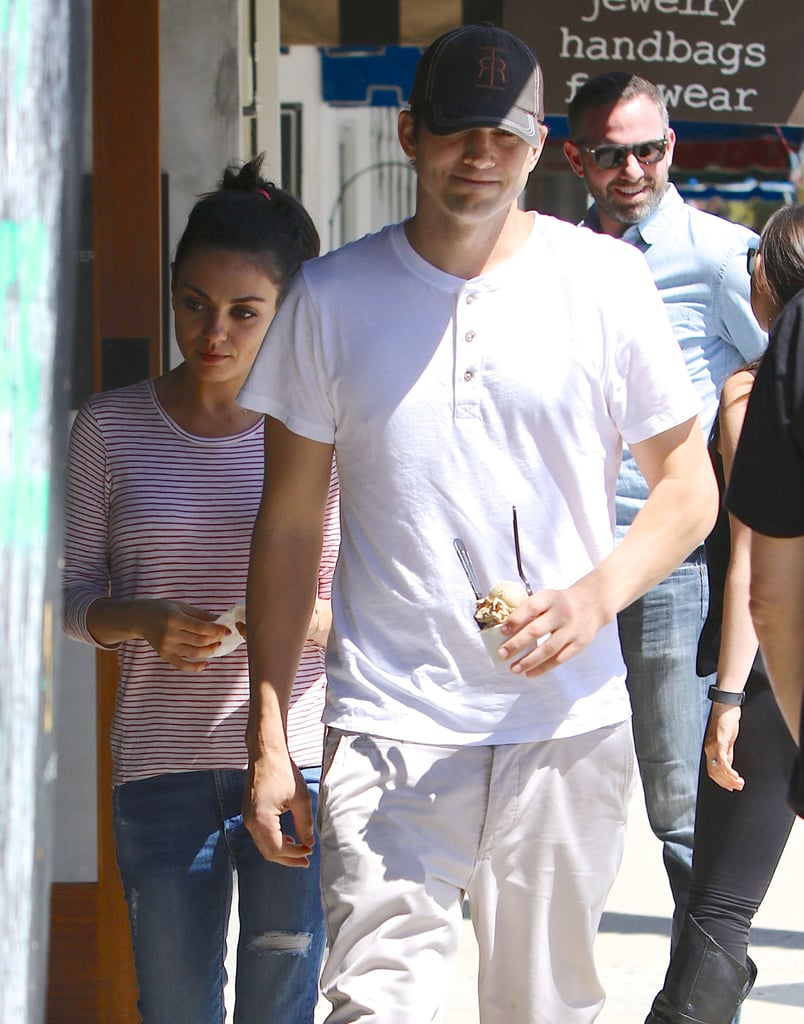 Mila Kunis and Ashton Kutcher Out in LA May 2016