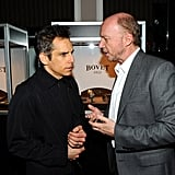 Ben Stiller talked to Paul Haggis at a Hollywood Dominoes event.